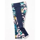 Go-Dry Asymmetrical Side-Panel 7/8-Length Leggings for Girls