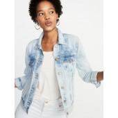Tie-Dye Denim Jacket for Women