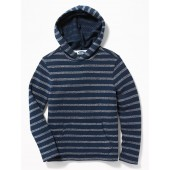 Striped French-Terry Pullover Hoodie for Boys