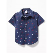 Star-Print Pocket Shirt for Baby