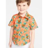 Built-In Flex Pineapple-Print Shirt for Toddler Boys