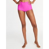 High-Rise Boy Short Swim Bottoms for Women