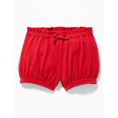 Paperbag-Waist Jersey Bubble Shorts for Baby