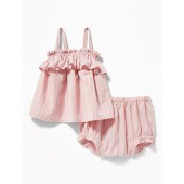 Ruffle-Trim Tank & Bloomers Set for Baby