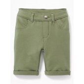 French Terry Pull-On Bermudas for Toddler Girls