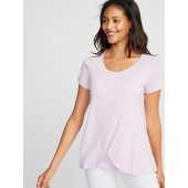 Maternity Jersey Cross-Front Nursing Top