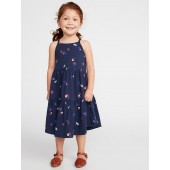 Printed Tiered Jersey Swing Dress for Toddler Girls