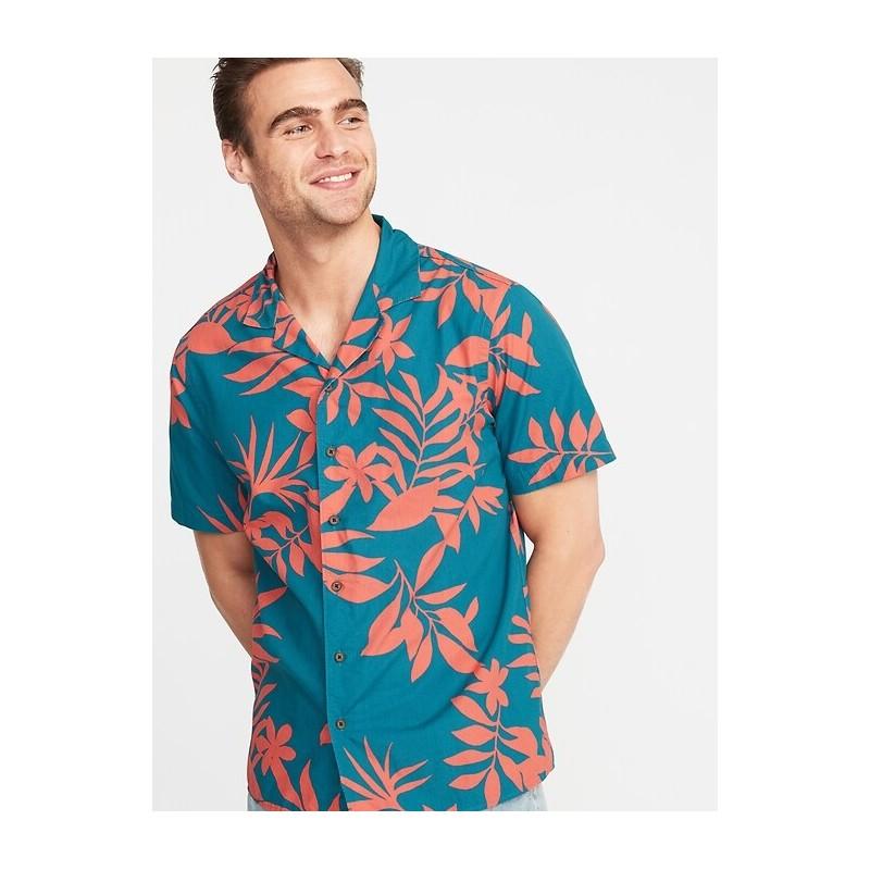 Regular-Fit Printed Getaway Shirt for Men