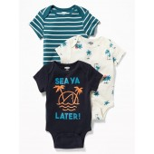 Graphic Bodysuit 3-Pack for Baby