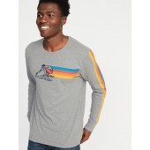 Surf-Graphic Soft-Washed Tee for Men