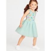 Printed Tutu Tank Dress for Toddler Girls