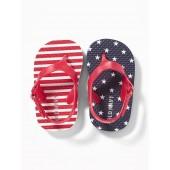 Stars & Stripes Flip-Flops for Baby
