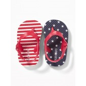 Stars & Stripes Flip-Flops for Baby