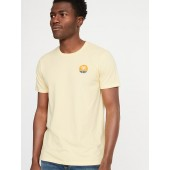 Soft-Washed Embroidered Graphic Tee for Men
