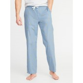 Printed Poplin Sleep Pants for Men