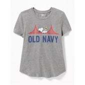 Peanuts&#174 Snoopy Old Navy Logo Tee for Girls