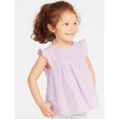 Ruffled Lace-Trim Top for Toddler Girls