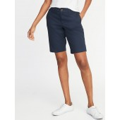 Mid-Rise Relaxed Uniform Bermudas for Women - 10.5-inch inseam