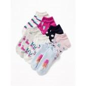 7-Pack Printed Ankle Socks for Women