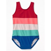Color-Blocked Swimsuit for Toddler Girls