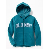 Logo-Graphic Zip Hoodie for Girls