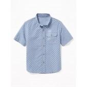 Built-In Flex Chest-Pocket Shirt for Boys