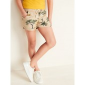 Printed Twill Pull-On Shorts for Girls
