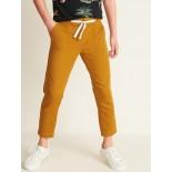 Soft Herringbone-Twill Straight-Leg Pants for Girls