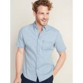 Slim-Fit Built-In Flex Chambray Shirt for Men