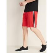 Go-Dry Side-Stripe Mesh Shorts for Men - 10-inch inseam