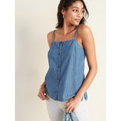 Button-Front Chambray Cami for Women