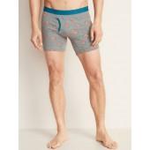 Soft-Washed Built-In Flex Boxer Briefs for Men - 6 1/4-inch inseam