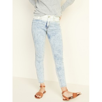 High-Rise Secret-Slim Pockets Dip-Dye Rockstar Jeans for Women