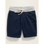 Functional Drawstring Rib-Knit Waist Karate Shorts for Toddler Boys