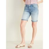 Slim Denim Bermudas for Women - 9-inch inseam
