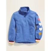 Mock-Neck 1/4-Zip Pullover for Girls