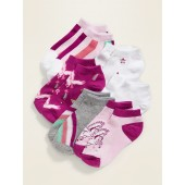 No-Show Printed Socks 6-Pack for Girls