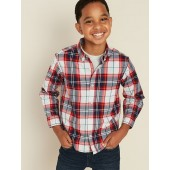Plaid Built-In Flex Classic Shirt for Boys
