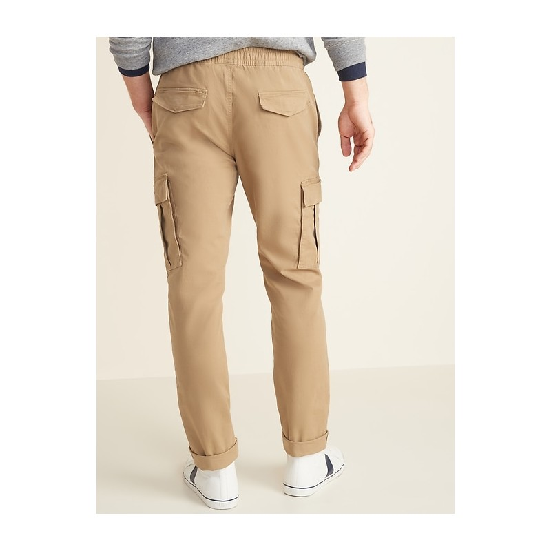 Relaxed Slim Built-In Flex Twill Pull-On Cargo Pants for Men