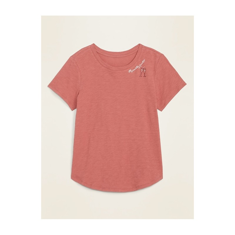 EveryWear Graphic Slub-Knit Tee for Women