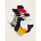 Unisex Striped Crew-Socks 8-Pack for Toddler & Baby