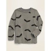 Printed Long-Sleeve Crew-Neck Tee for Toddler Boys