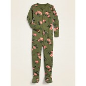 Printed Footie Pajama One-Piece for Toddler Girls & Baby