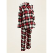 Maternity Plaid Flannel Pajama Set