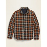 Patterned Double-Weave Long-Sleeve Shirt for Boys