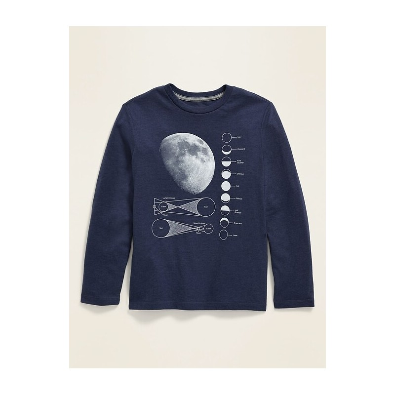 Long-Sleeve Graphic Tee For Boys