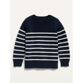 Striped Crew-Neck Pullover Sweater for Toddler Boys