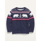 Fair Isle Crew-Neck Sweater for Toddler Boys