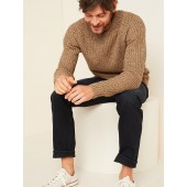 Textured Rib-Knit Crew-Neck Sweater for Men