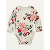 Unisex Printed Long-Sleeve Bodysuit for Baby